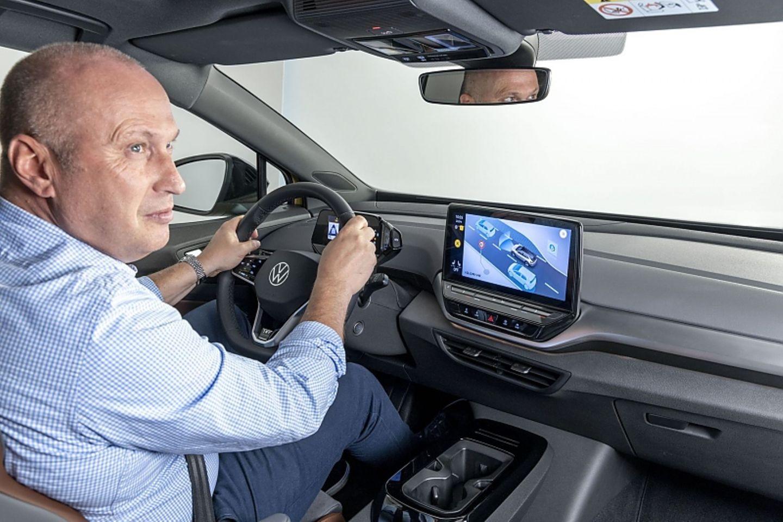 Das Cockpit des VW ID.4 1st Max hat einen zwölf Zoll großen Touchscreen