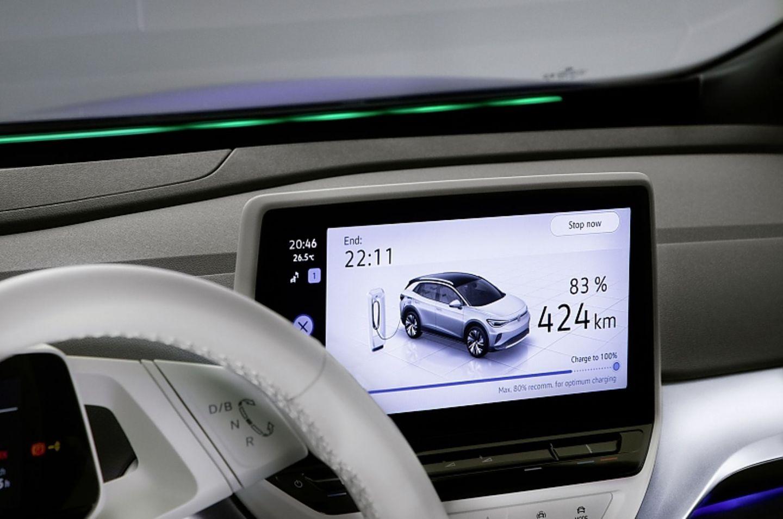 Beim VW ID.4 1st ist das Display zehn Zoll groß
