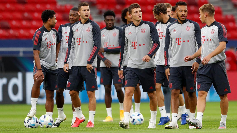UEFA-Supercup, vor der Partie zwischen FC Bayern München und FC Sevilla, Abschlusstraining FC Bayern München