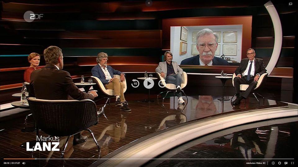 "John Bolton in ZDF-Sendung ""Markus Lanz"""