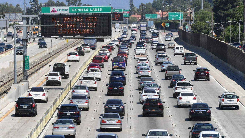 Autoverkehr in Los Angeles, Kalifornien