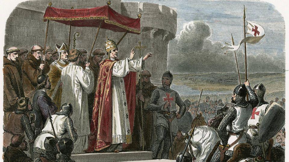 Papst Urban II. ruft zum Kreuzzug auf