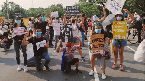 Protest in den Philippinen