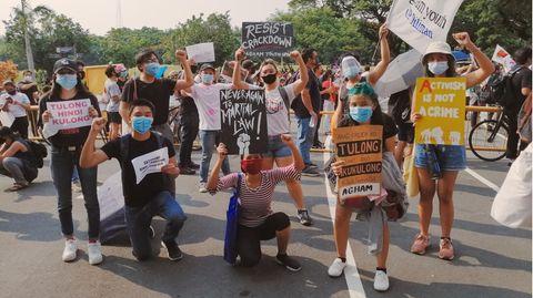 Protest in den Philippinen
