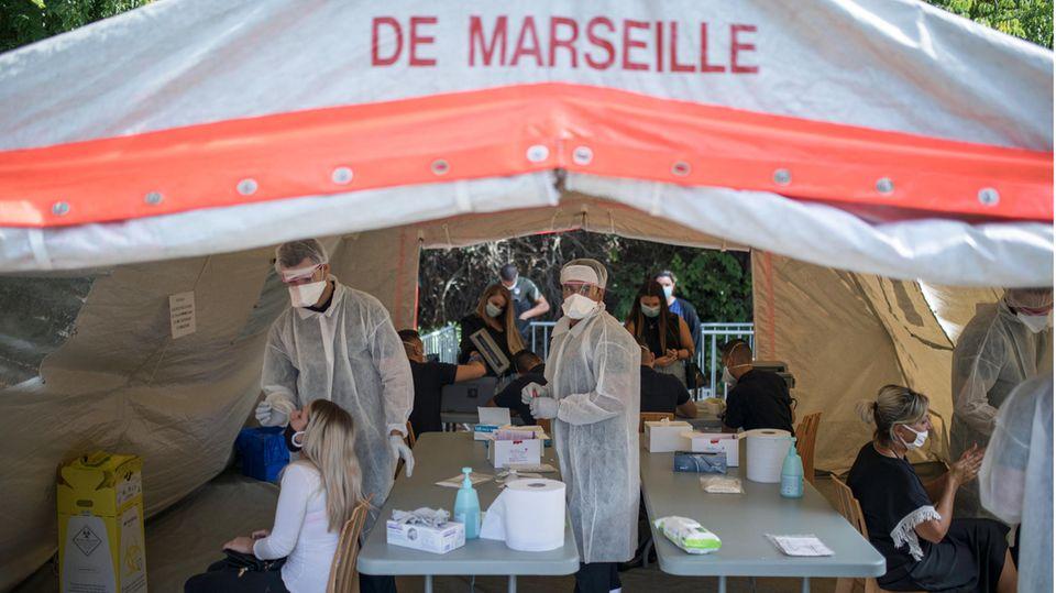 Morgenlage: Corona-Neuinfektionen Frankreich