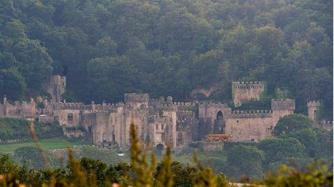 """SchlossGwrych Castle im Norden Wales, Produktionsort der RTL-Show """"Ich bin ein Star – holt mich hier raus"""" (""""Dschungelcamp"""")"""