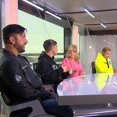 DSDS-Jury Michael Wendler, Dieter Bohlen, Maite Kelly und Mike Singer im Gespräch