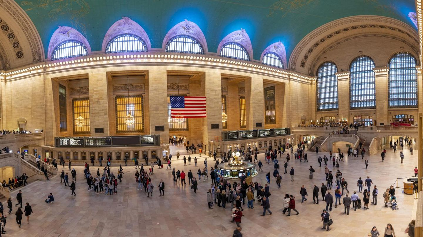 Innenansicht der Grand Central Station in Manhattan in New York City