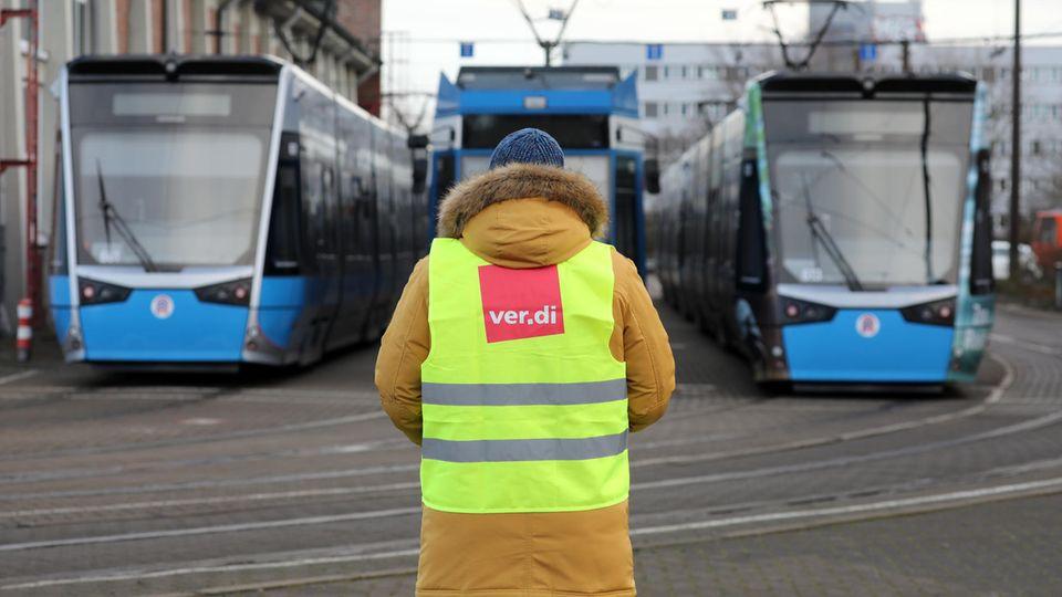 Warnstreik in Rostock