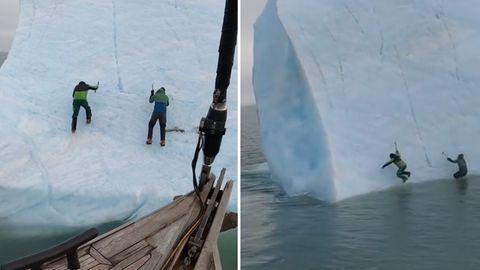 Der Extremsportler Michael Horn will mit einem Kollegen einen Eisberg besteigen.