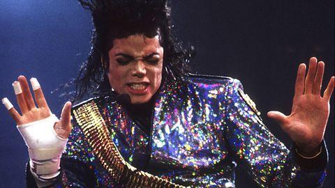 Michael Jackson bei einem Konzert seiner 'Dangerous'-Tour im Wembley-Stadion