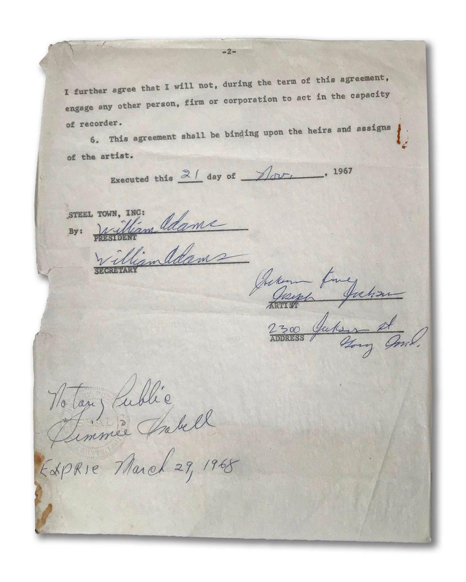 Michael Jacksons erster Plattenvertrag