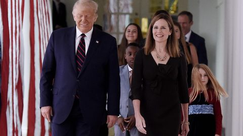 Donald Trump and Amy Coney Barrett