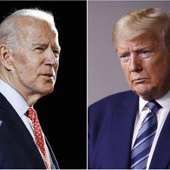 Joe Biden (l.), Präsidentschaftskandidat der US-Demokraten, und US-Präsident Donald Trump