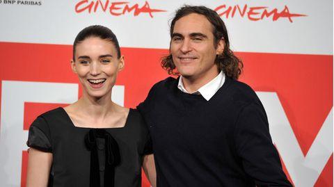 """Rooney Mara und Joaquin Phoenix bei der Präsentation des gemeinsamen Filmes """"Her"""""""