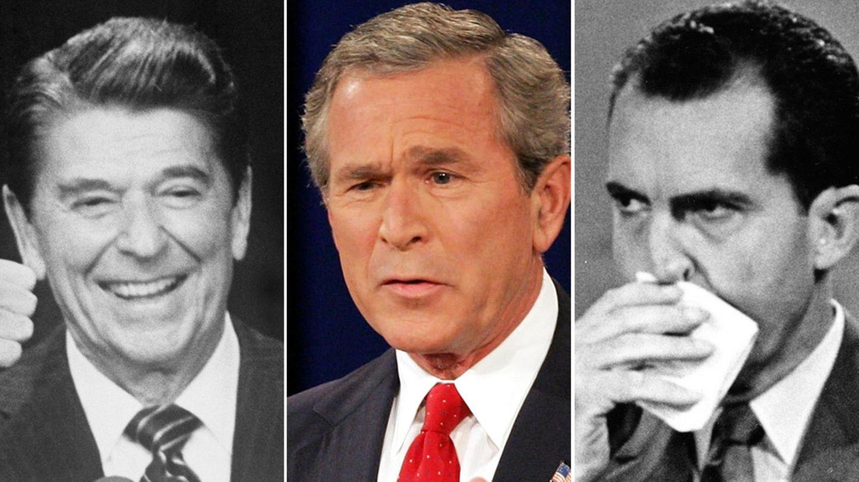 Ronald Reagan, George W. Bush, Richard Nixon (v.l.n.r.)