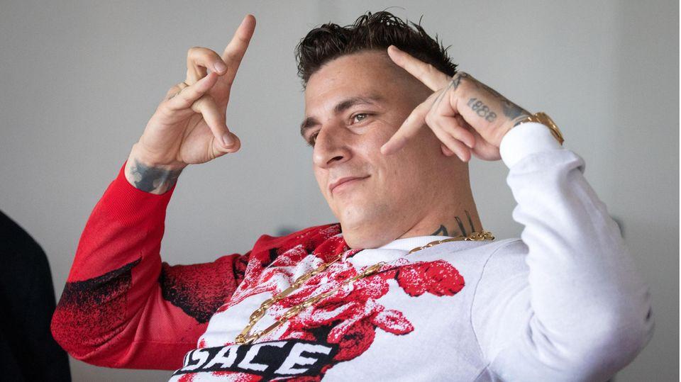 Rapper Gzuz im Juni 2020 vor Gericht