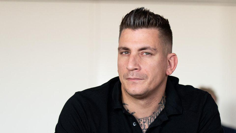 Rapper Gzuz (bürgerlich Kristoffer Jonas Klauß) im Gerichtssaal