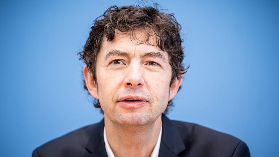 Christian Drosten auf einer Pressekonferenz