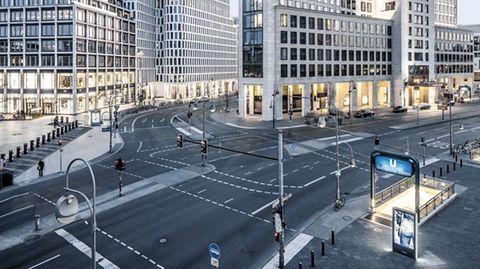 Leere Straßen in Berlin