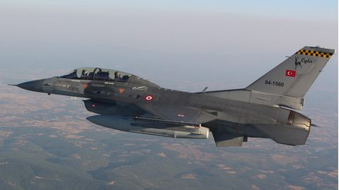 F-16-Kampfjet der Türkei