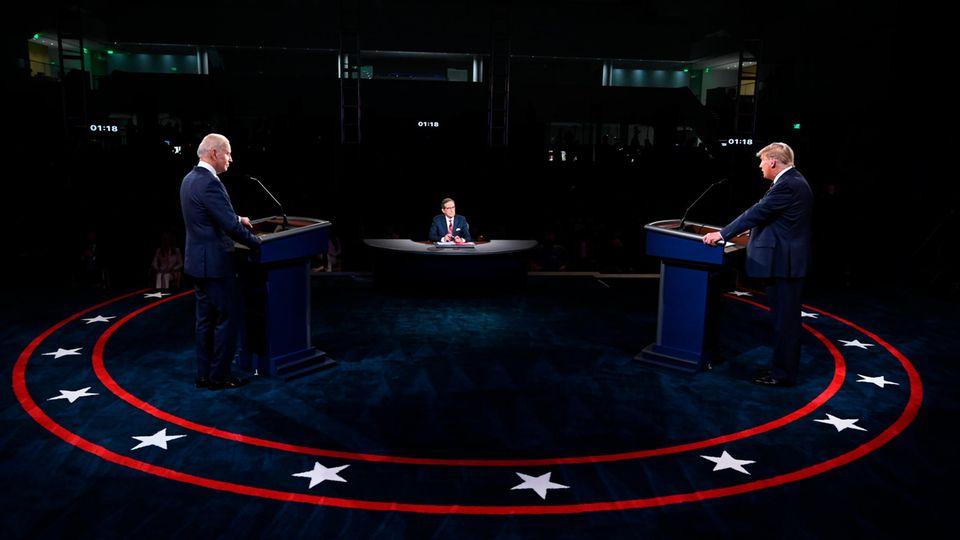 Donald Trump (r.), Präsident der USA, und Joe Biden (l.), Präsidentschaftskandidat der Demokraten