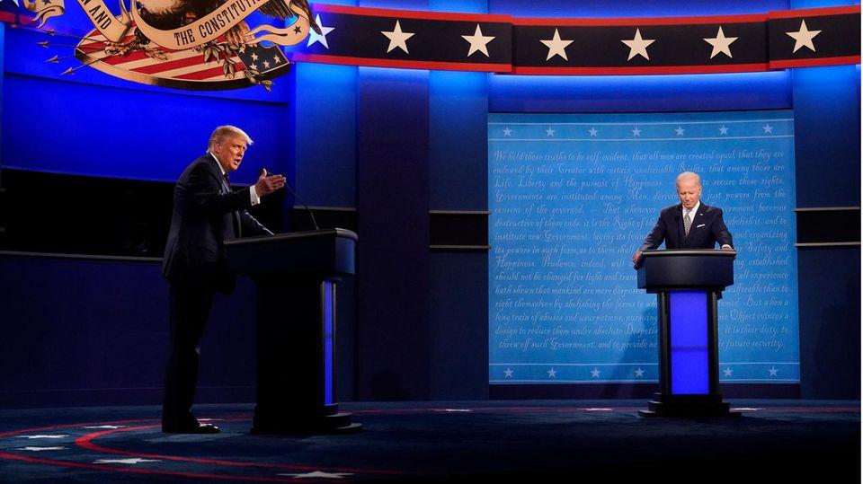 Donald Trump (l.), Präsident der USA, und Joe Biden, Präsidentschaftskandidat der Demokraten