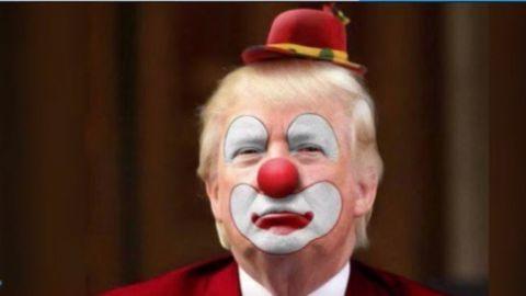 Donald Trump als Clown