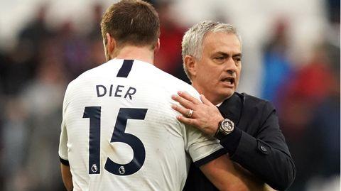 sport kompakt: Tottenham-Verteidiger Eric Dier und Coach Jose Mourinho