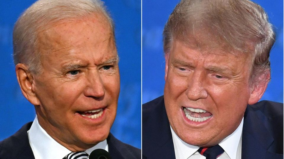 Joe Biden und Donald Trump im Portait