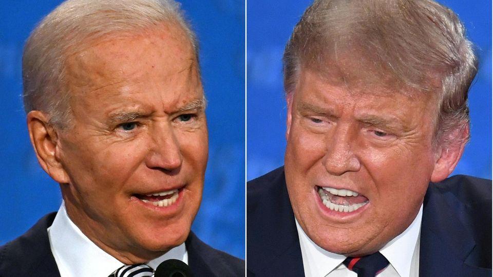 Joe Biden und Donald Trump im Portait