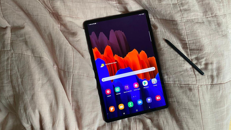 Der Bildschirm ist der Star des Galaxy Tab S7+