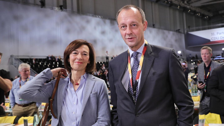 Friedrich Merz, Bewerber um den CDU-Parteivorsitz, und Charlotte Merz