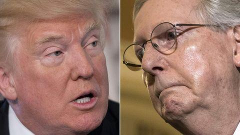Kombo - Donald Trump und Mitch McConnell