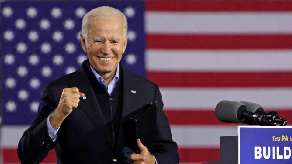 Joe Biden beim Wahlkampfin Johnstown im US-Bundesstaat Pennsylvania