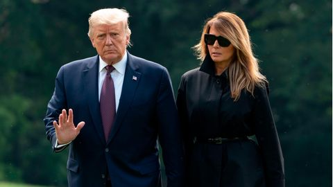 US-Präsident Donald Trump und First Lady Melania
