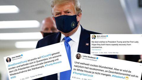 Twitterreaktionen zu Trumps Covid-19.Infektion