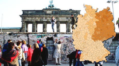Deutschland Wiedervereinigung Karten