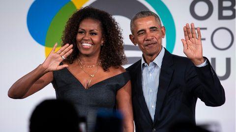 Michelle und Barack Obama im Herbst 2019 auf einem Treffen der Stiftung des Ex-Präsidenten, der Obama Foundation,in Chicago
