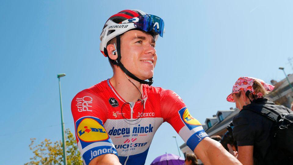 Fabio Jakobsen während der Spanien-Rundfahrt Vuelta ein Jahr vor seinem schweren Sturz in Polen