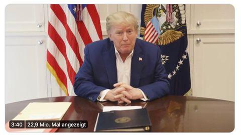 Trump meldet sich mit Videobotschaft aus dem Walter-Reed-Krankenhaus