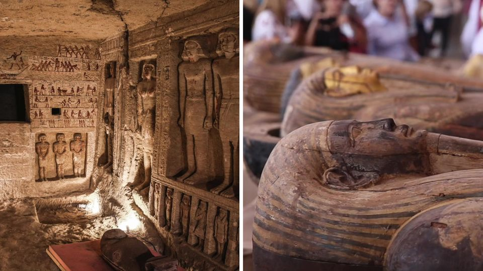 Archäologen finden bei Kairo 59 altägyptische Sarkophage