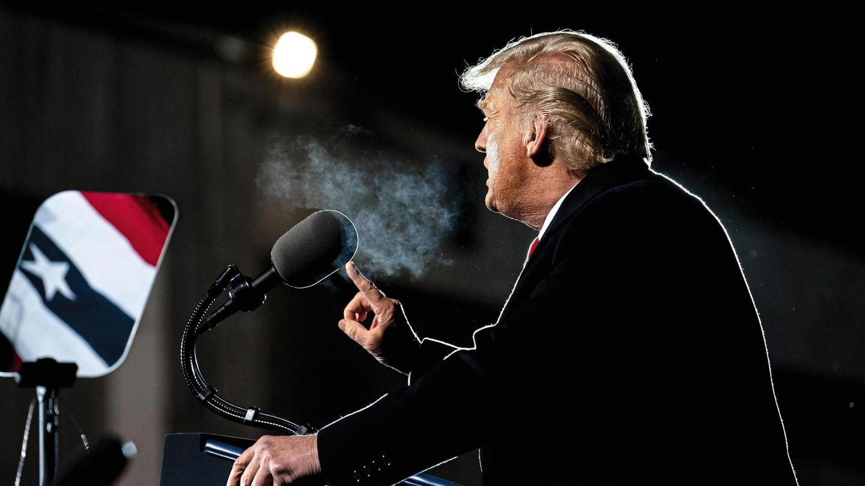 Donald Trump hält eine Rede
