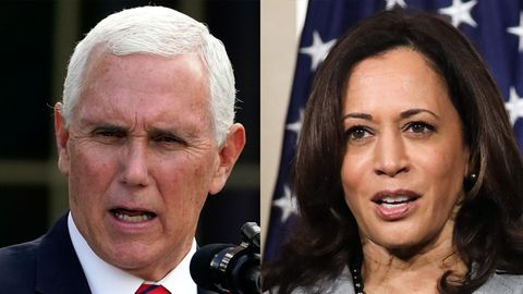Kombo: Mike Pence und Kamala Harris