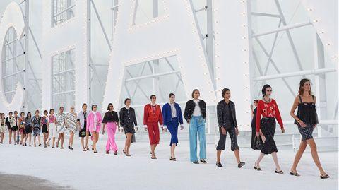Das Abschluss-Défilé von Chanel bei der Pariser Modewoche
