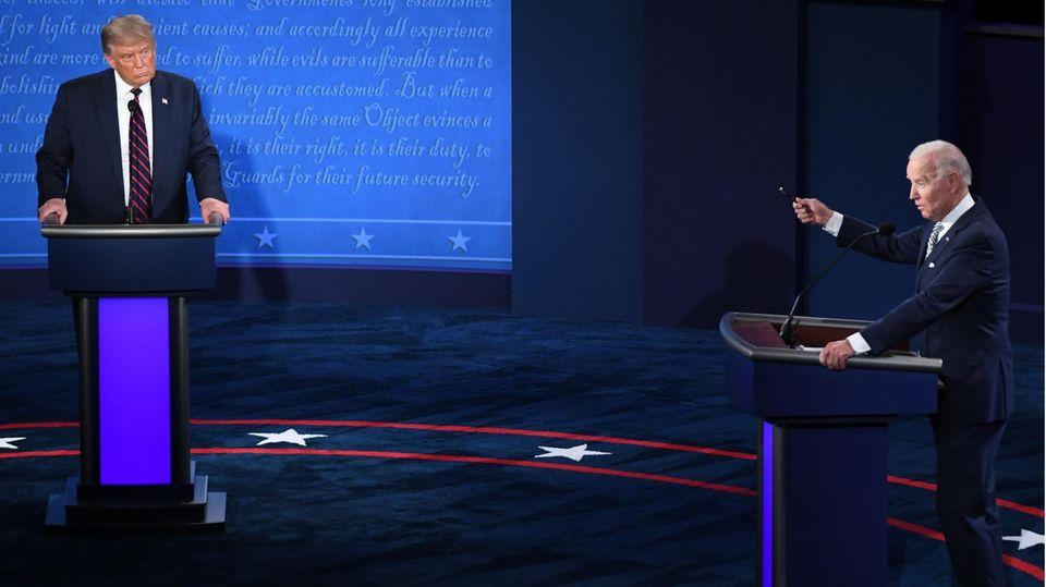 US-Präsident Donald Trump (l.) und Herausforderer Joe Biden