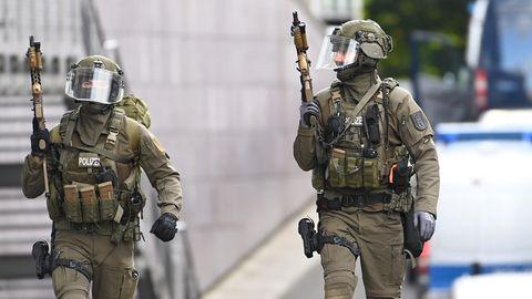 Einsatzkräfte der Polizei in Berlin