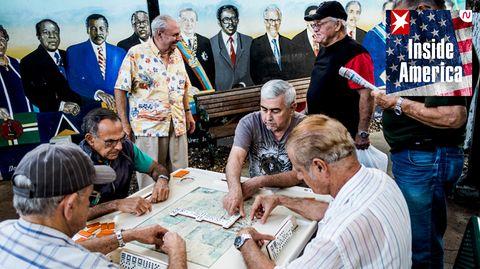 Kubaner spielen Domino in Little Havana, Miami (Archivfoto)