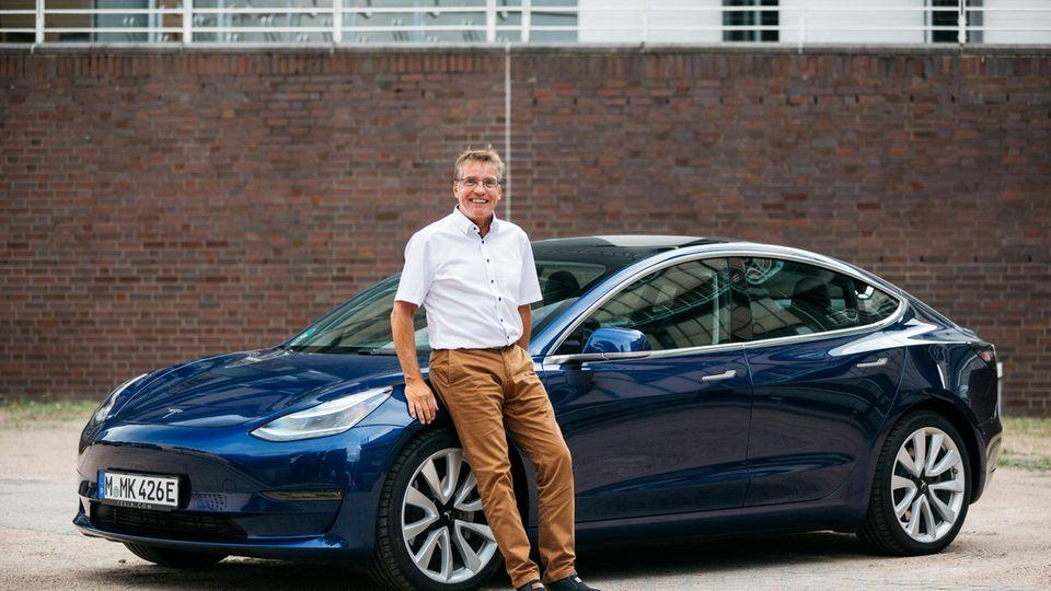 Hans-Jörg Felbick testete den Tesla 3