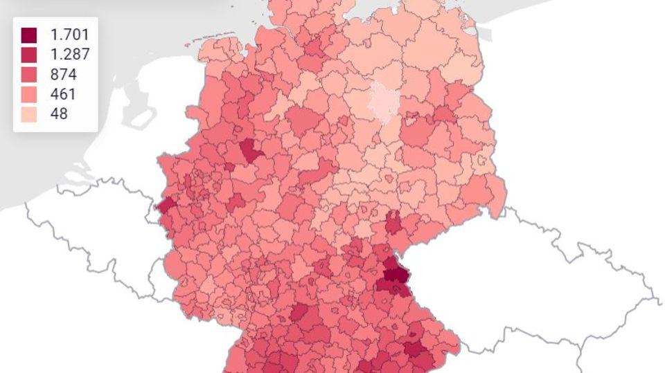 Covid-19: Die aktuellen RKI-Fallzahlen: So breitet sich das Coronavirus in Deutschland aus
